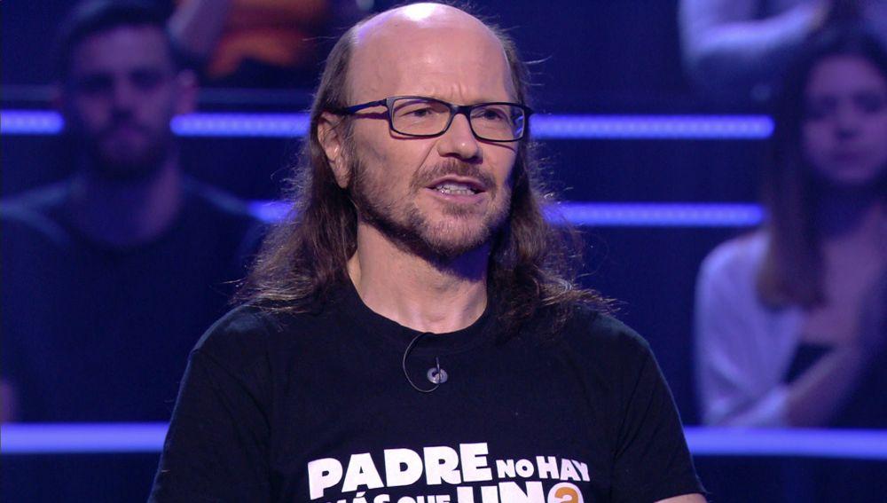 """Santiago Segura, al borde del """"infarto"""" nada más empezar en '¿Quién quiere ser millonario?'"""