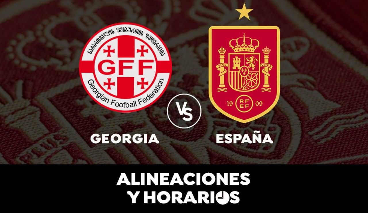 Georgia - España: Horario, alineaciones y dónde ver el partido de la clasificación para el Mundial de Qatar 2022 en directo