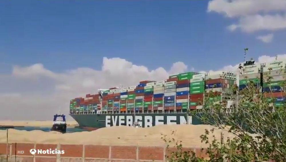 Even Given, el barco encallado en el Canal de Suez