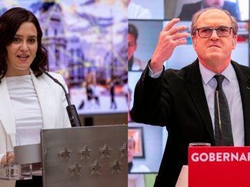Isabel Díaz Ayuso y Ángel Gabilondo
