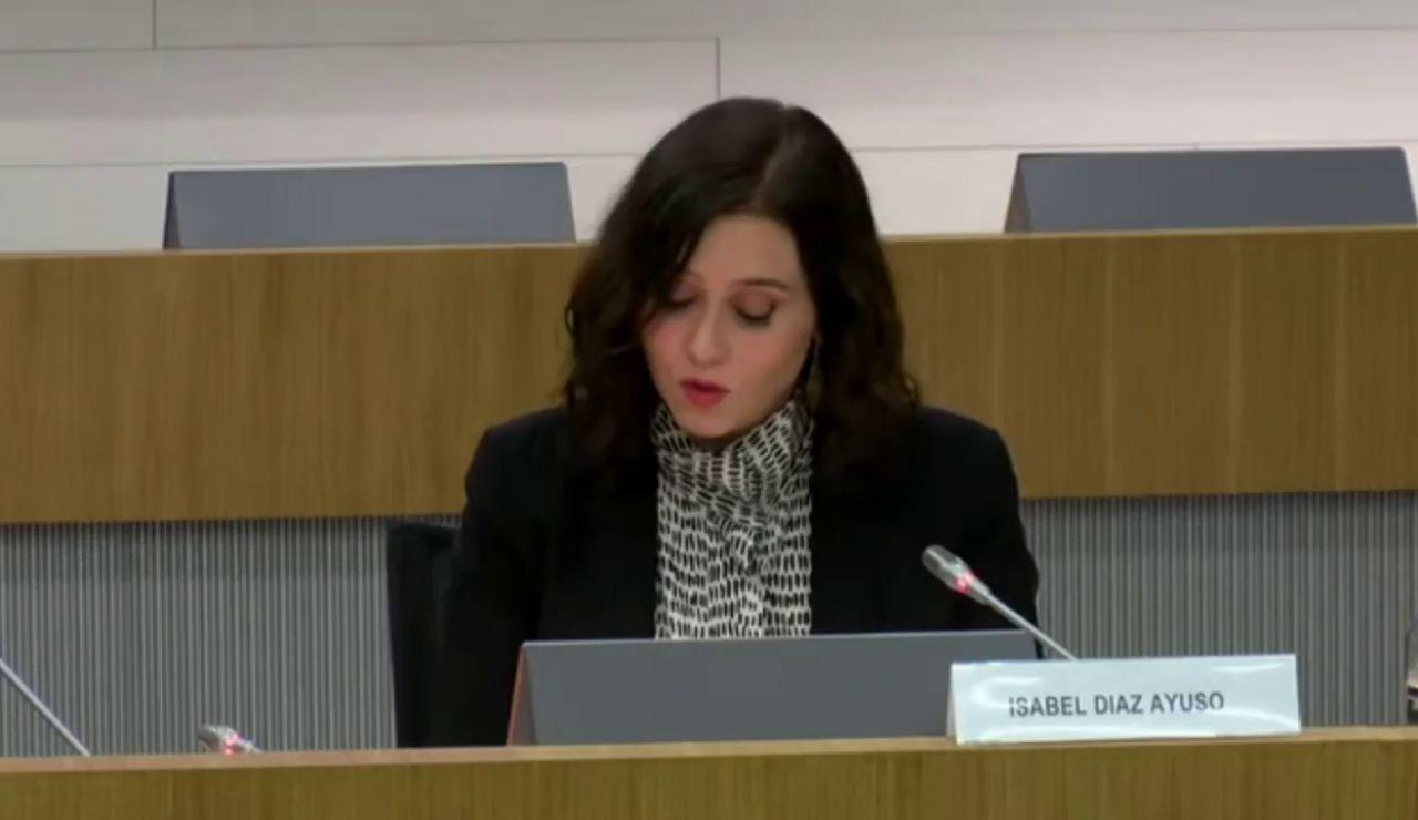"""Ayuso presenta la política económica de Madrid y tacha de """"tardías y insuficientes"""" las ayudas del Gobierno central"""