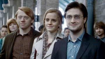 Rupert Grint, Emma Watson y Daniel Radcliffe en 'Harry Potter'
