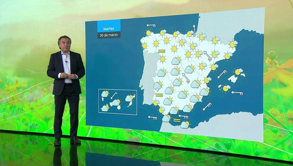 La previsión del tiempo hoy: Suben las temperaturas salvo en Galicia y Extremadura