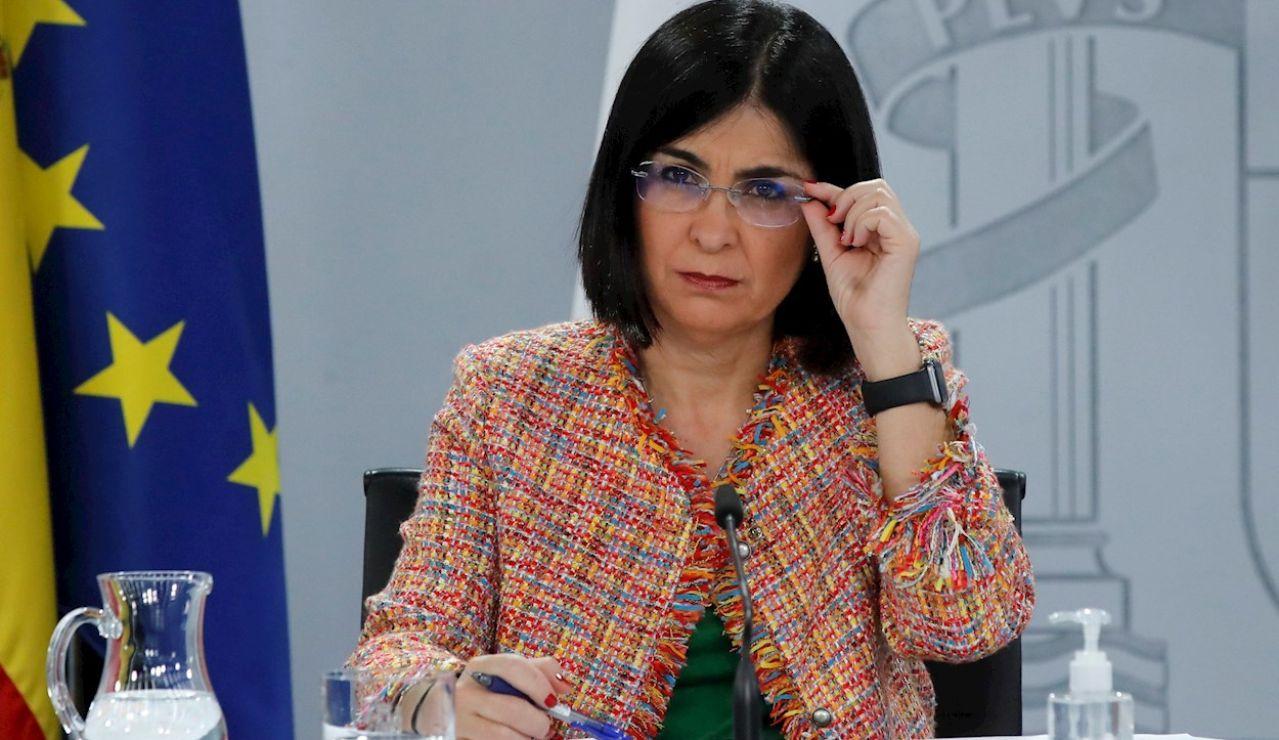 """La ministra de Sanidad, Carolina Darias, pide """"responsabilidad"""" a los ciudadanos durante Semana Santa"""