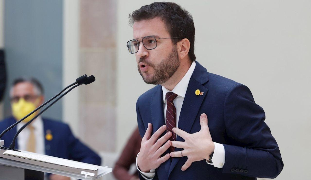 El candidato de ERC, Pere Aragonés,