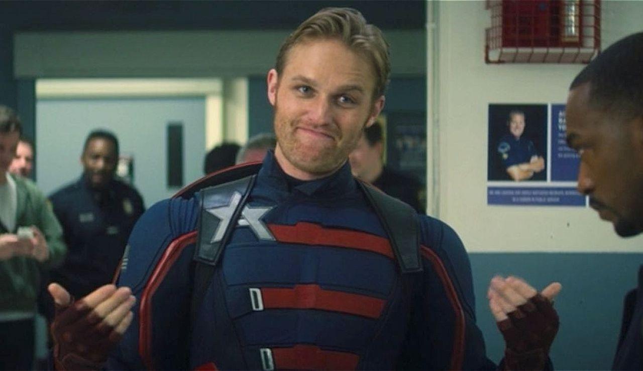 Wyatt Russell como Capitán América en 'Falcon y el Soldado de Invienro'