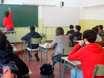 Alumnos en un instituto