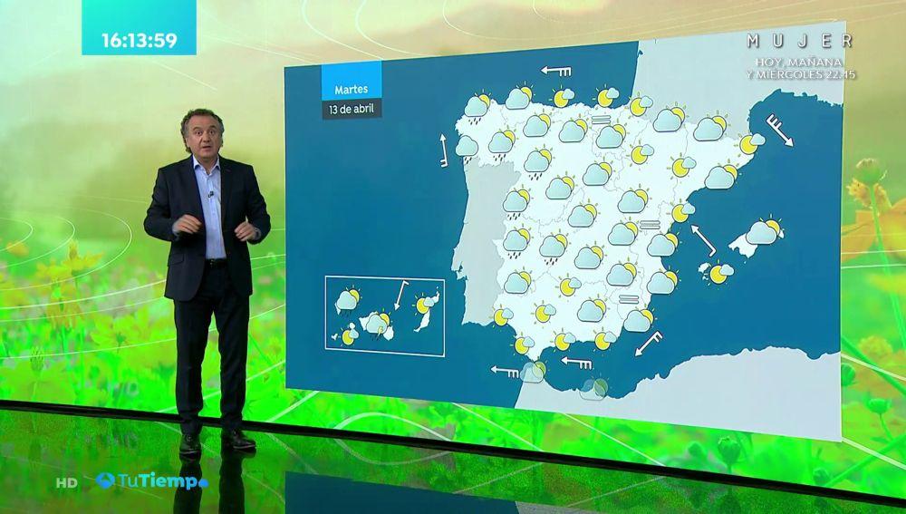 La previsión del tiempo hoy: Suben las temperaturas con lluvias en el Cantábrico y Pirineos