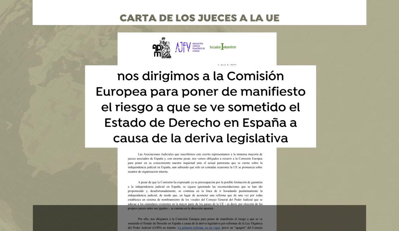 Más de 2.500 jueces piden medidas a la UE ante el riesgo de violación del Estado de Derecho en España