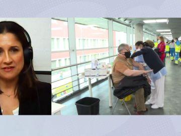 Espejo Público (13-04-21) Rosario Cáceres: 'Estamos cantando los casos graves de AstraZeneca como goles en un partido'
