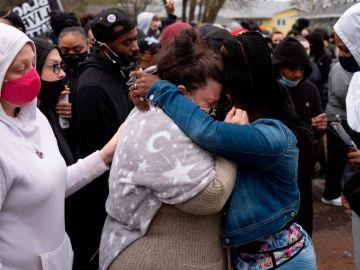 La madre de Daunte Wright, este martes en Mineápolis
