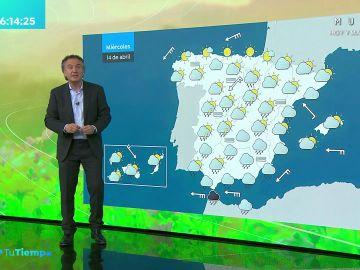 La previsión del tiempo hoy: Lluvias en el noroeste de Galicia con nubes que se extenderán por la Península a lo largo del día