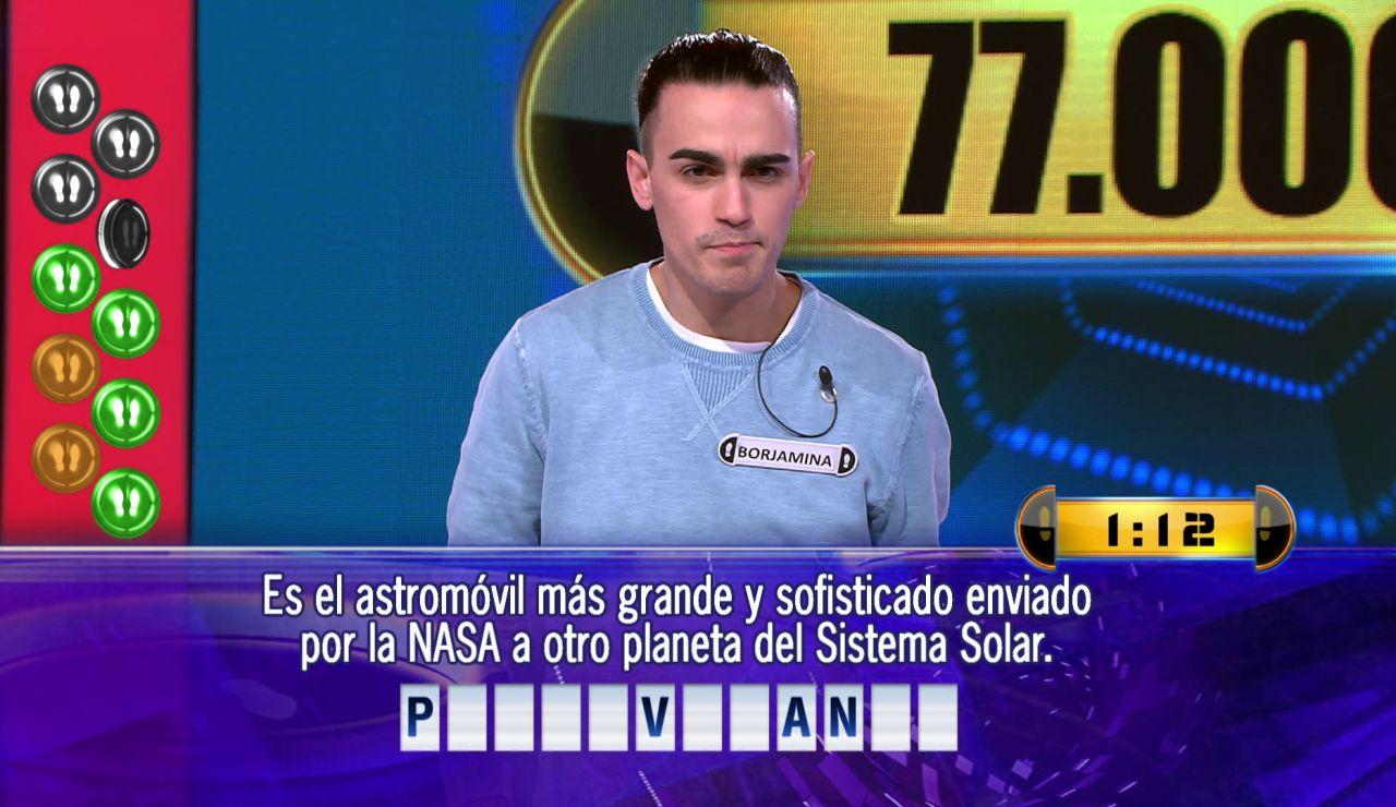 Borja, a por 77.000 euros en el Duelo Final de '¡Ahora caigo!'