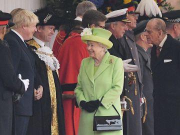 La reina Isabel II, en un acto junto al difunto duque de Edimburgo