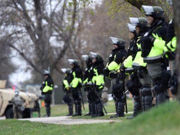 Imagen de las fuerzas policiales desplegadas en Estados Unidos