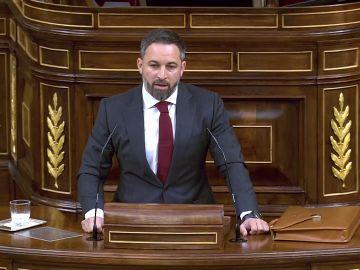"""Santiago Abascal dice que este Gobierno """"es el de la muerte y la ruina"""" y exige """"el fin de las restricciones"""""""