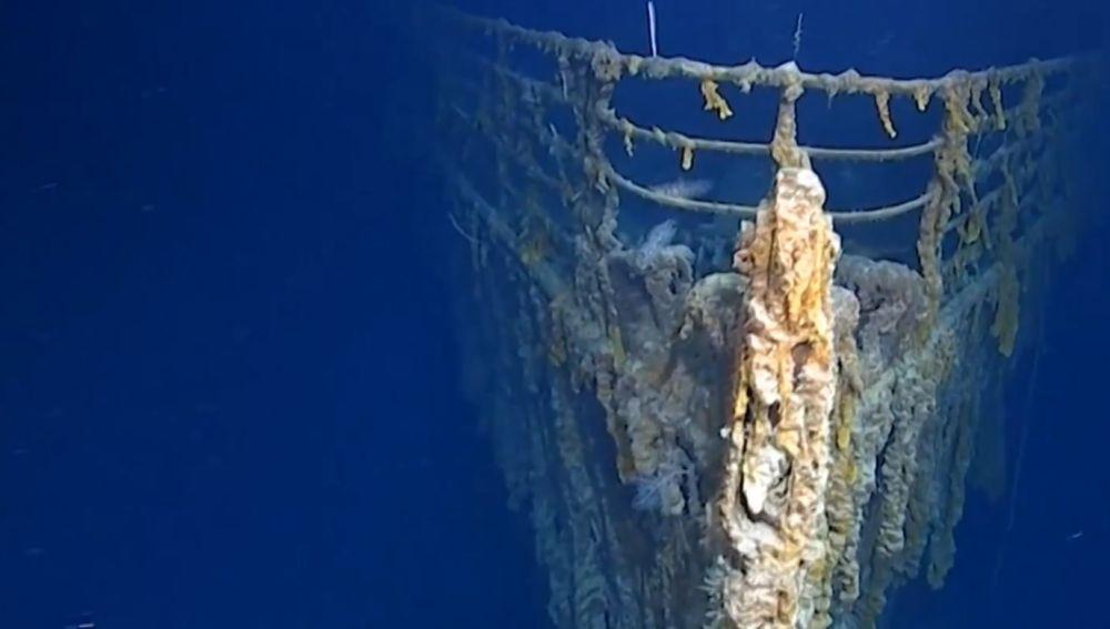 El Titanic, bajo el mar