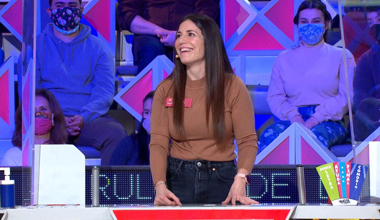 La incontrolable alegría de una concursante por el fallo de un compañero en 'La ruleta de la suerte'