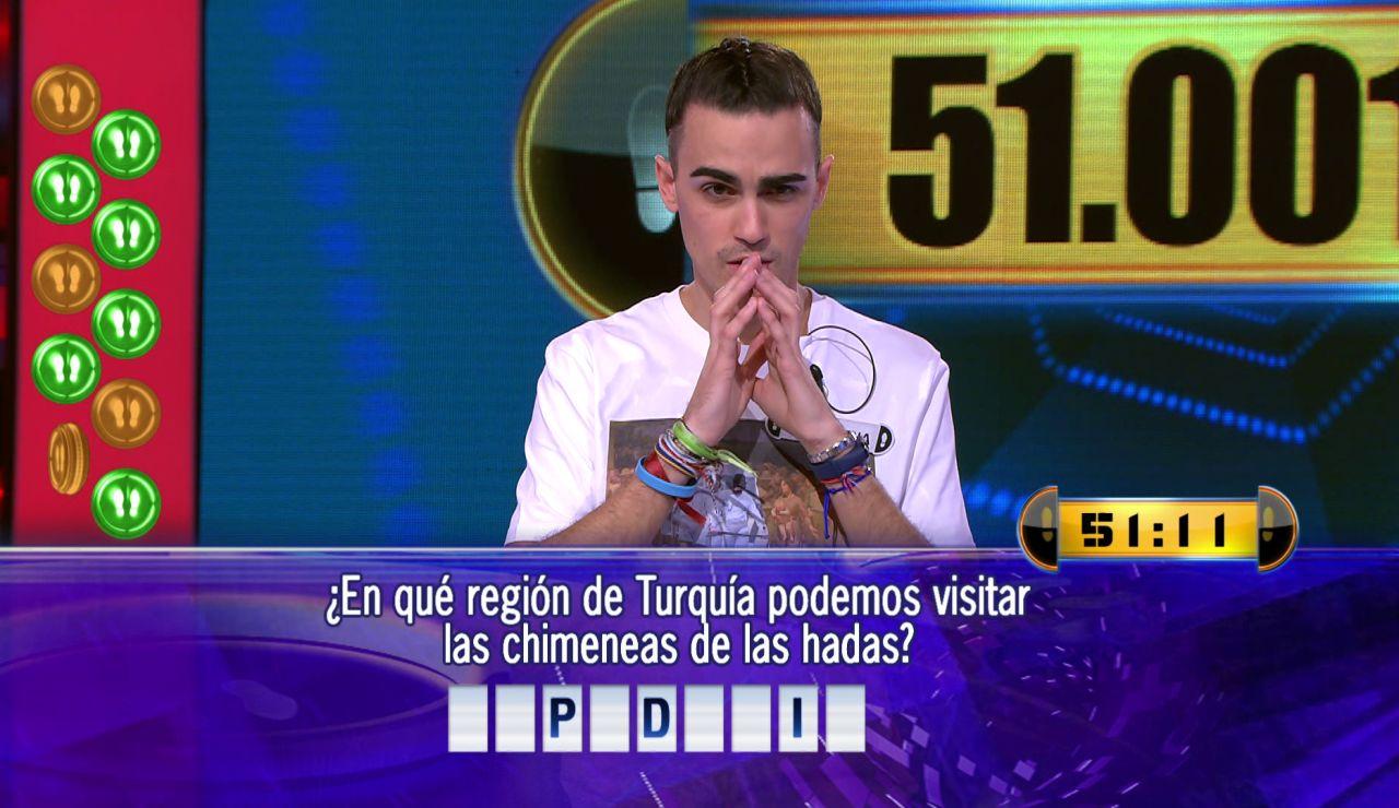 Borja juega por 51.001 euros el Duelo Final de '¡Ahora caigo!'