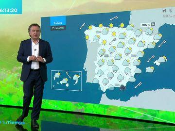 La previsión del tiempo hoy: Lluvias generalizadas en la Península que irán acompañadas de barro en el sureste