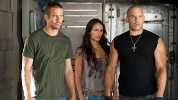 Paul Walker, Jordana Brewster y Vin Diesel en 'Fast and Furious'