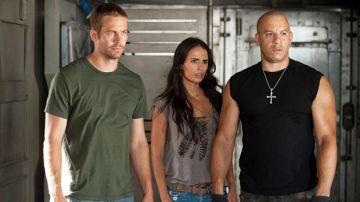 Paul Walker, Jordana Brewster y Vin Diesel en 'Fast and Furious'