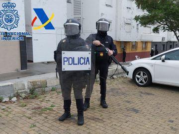 Operación antidroga en el Campo de Gibraltar