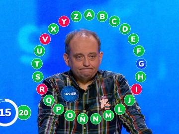 Javier agoniza en un rosco sin precedentes: hasta cuatro errores frente a los 22 aciertos de Pablo