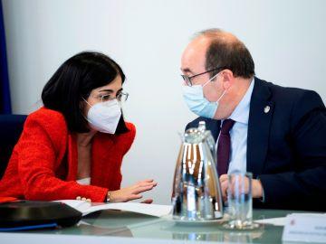 Carolina Darias y Miquel Iceta, reunidos este miércoles