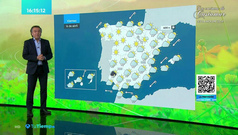 Previsión del tiempo hoy: Lluvias fuertes acompañadas de tormentas en el sureste y Melilla