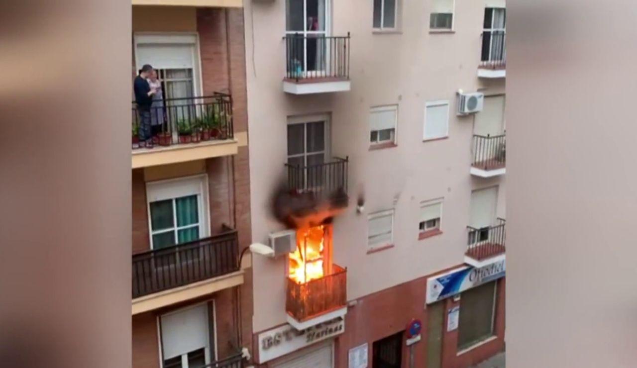 Incendio en una vivienda de Huelva