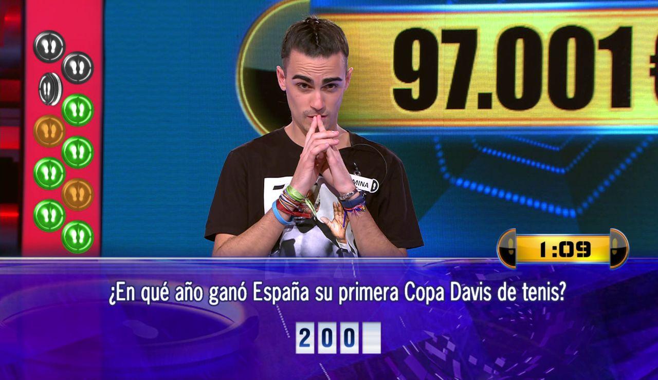 Borja juega el Duelo Final por 97.001 euros en '¡Ahora caigo!'