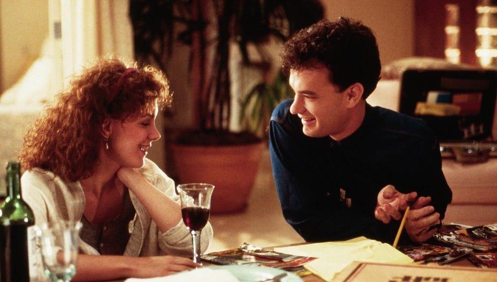 Elizabeth Perkins y Tom Hanks en 'Big'