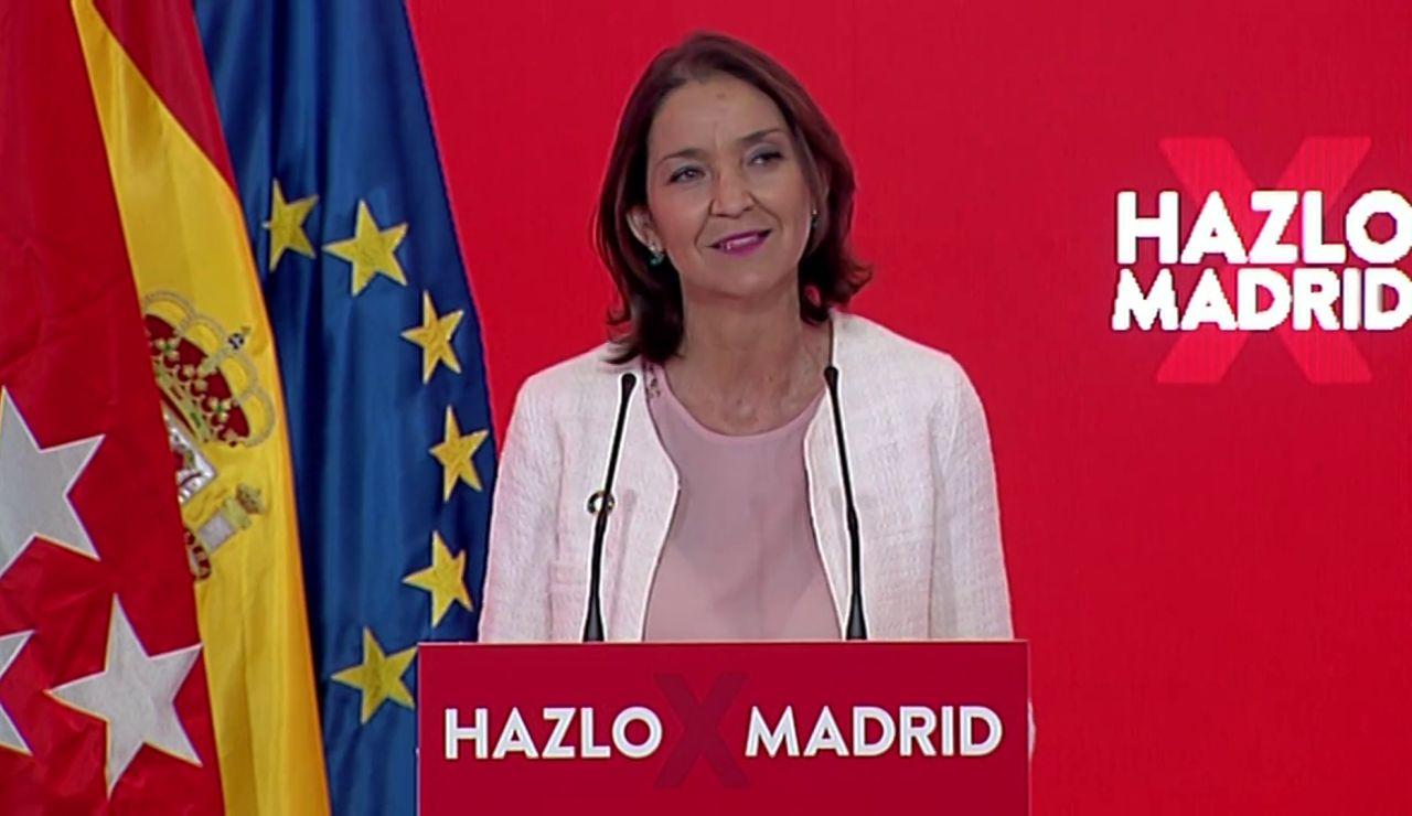 Reyes Maroto será la vicepresidenta económica de Ángel Gabilondo si gana las elecciones de Madrid