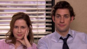 Pam y Jim en 'The Office'