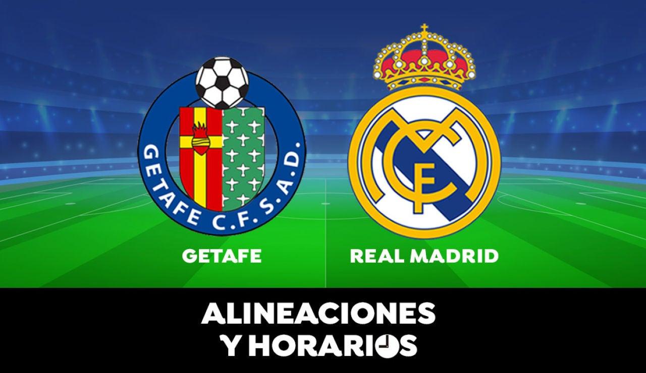 Getafe - Real Madrid: Horario, alineaciones y dónde ver el partido de Liga Santander en directo