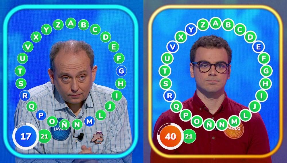 """Javier y Pablo, en un tenso rosco con un bote de 1.504.000 euros: """"No me fio un pelo de este señor"""""""
