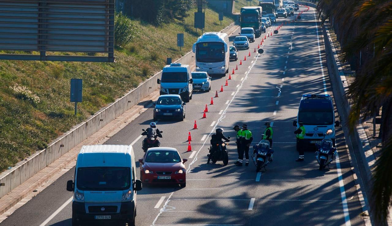 Control de movilidad de la Guardia Urbana en Barcelona