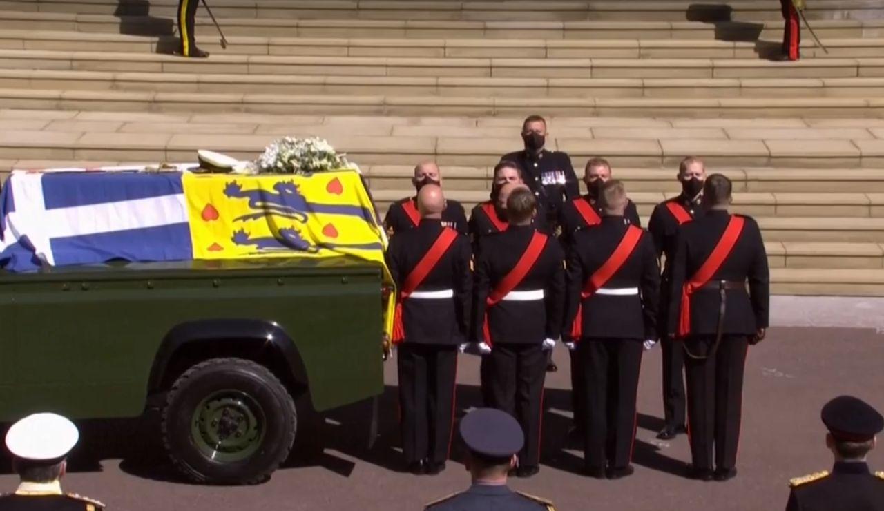 Momento del funeral en memoria del duque de Edimburgo