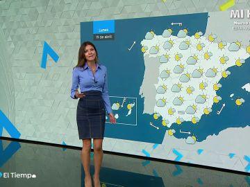 Ascenso de las temperaturas diurnas en la Península y Baleares y mínimas sin cambios