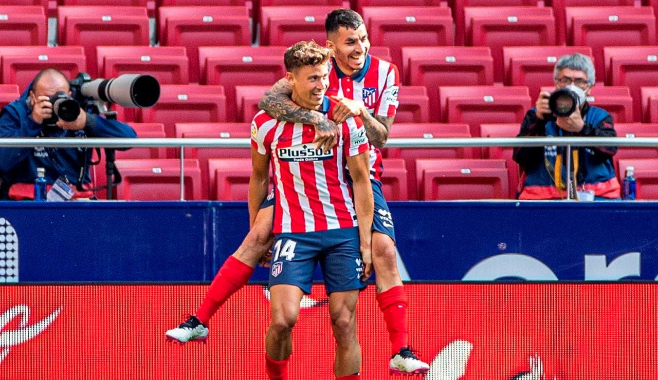 El Atlético de Madrid espanta los fantasmas de la Liga con una goleada al Eibar