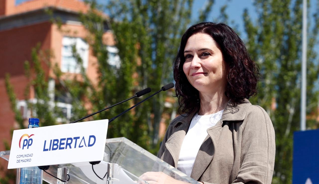 La presidenta de la Comunidad de Madrid y candidata del PP a la reelección, Isabel Díaz Ayuso