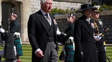 Las lágrimas del príncipe Carlos en el funeral de su padre, el Duque de Edimburgo