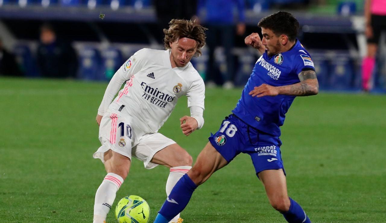 El Real Madrid pincha contra el Getafe en un partido muy gris de los de Zidane