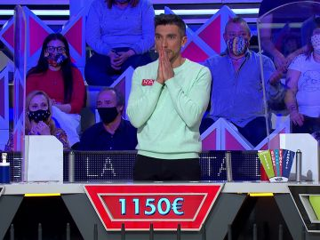 ¡Un error en el peor momento! Raúl cree tener el panel y falla con 1.150 euros