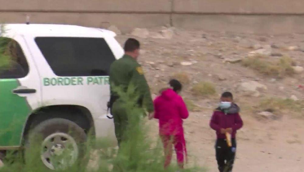Niños en la frontera.