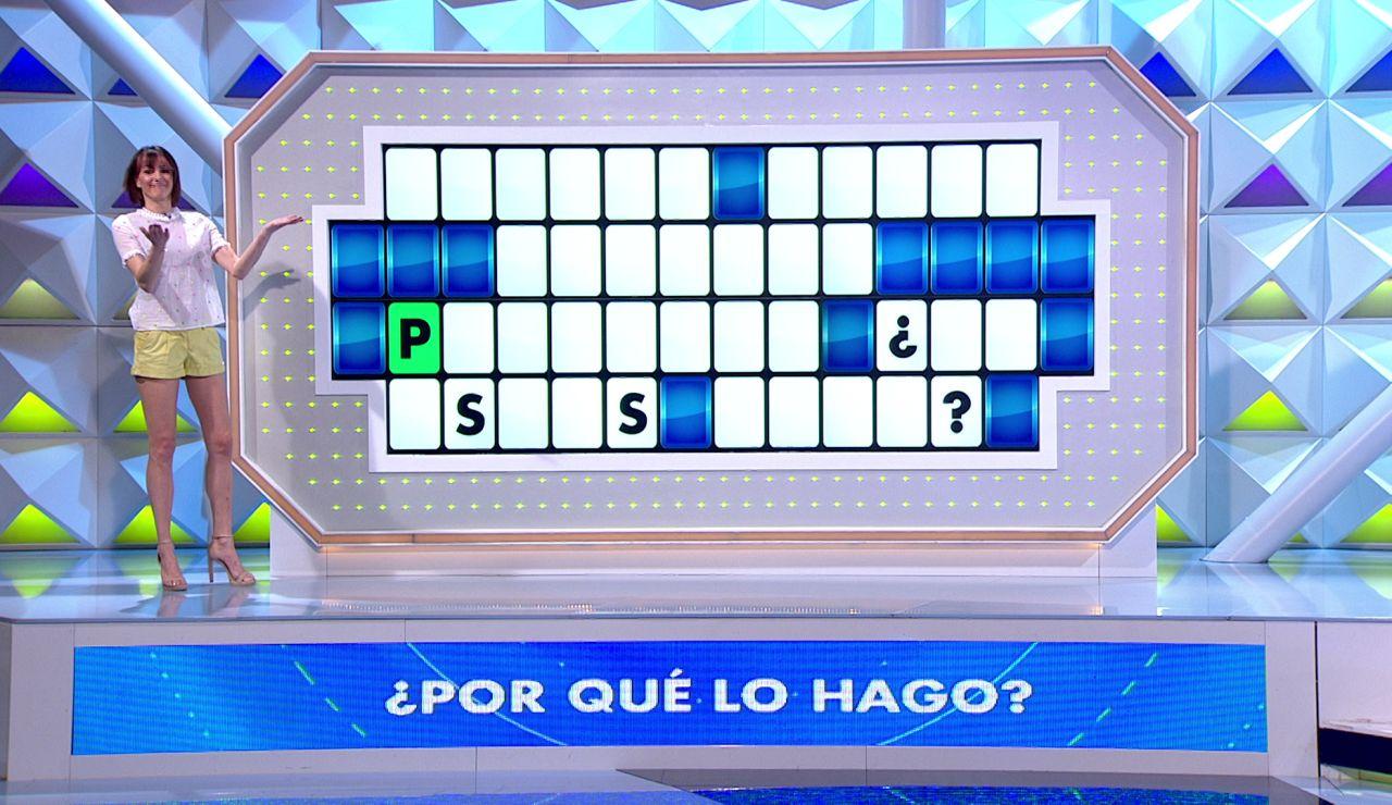 ¡A la segunda! Susana clava la letra oculta en el panel de 'La ruleta de la suerte'
