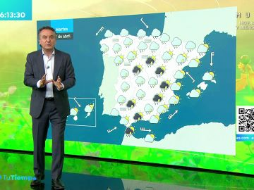 La previsión del tiempo hoy: La borrasca Lola deja lluvias y tormentas en la mitad oeste de Andalucía y este peninsular