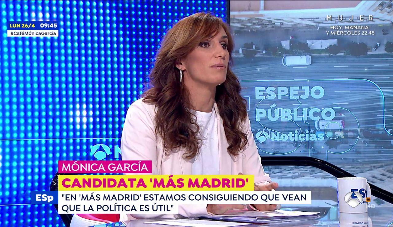 """Mónica García, candidata a las elecciones en Madrid: """"Todo lo que nos venga a proponer Vox es ruido, es miedo y es odio"""""""