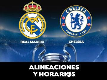 Real Madrid - Chelsea: Horario, alineaciones y dónde ver el partido de semifinales de la Champions League en directo